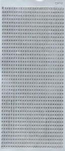 Sticker srebrny 03950 - szlaczek x1