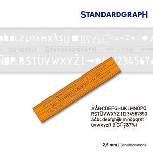 Szablon literowy H-profil prosty 2,5mm x1 - 2847518279