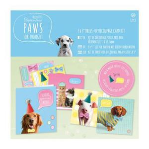 Zestaw kart i kopert - paws for thought 4szt x1 - 2848096890