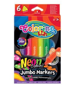 Pisaki Patio Colorino Jumbo trójkątne neon 6kol. - 2855813483