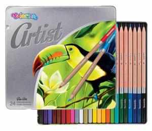 Kredki Patio Colorino Artist 24 kol. metal box x1 - 2855813492