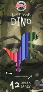 Kredki Koh-I-Noor Dino 12 kol x1 - 2855813493