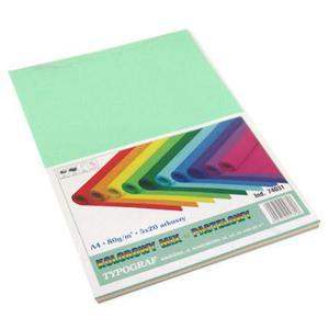 Ksero kolor A4 80g Typograf mix pastel 100ark. x1 - 2857468961