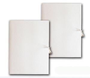 Teczka wiązana A4 tekturowa 300g biała x1