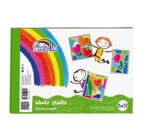 Zeszyt bibułek kolorowych Fiorello 5x20k x1 - 2858080373