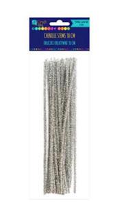 Druciki kreatywne 30cm metalizowane srebrne x25 - 2858767820