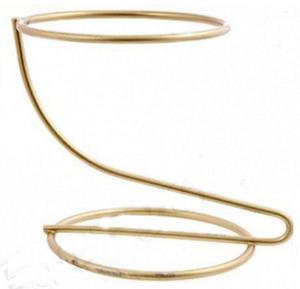Stojak metalowy na jaja Faberge 110mm złoty x1 - 2862567333