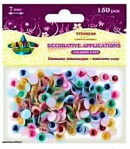 Oczka ruchome okrągłe Titanum 7mm kolorowe x150 - 2864470116
