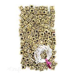 Koraliki 124szt. literki złote - 2880283755