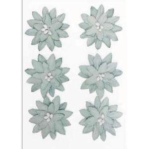 Kwiaty samoprzylepne papierowe Dalia szare x6 - 2867148737