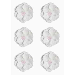 Kwiaty samoprzylepne papierowe Clematis białe x6 - 2867148740