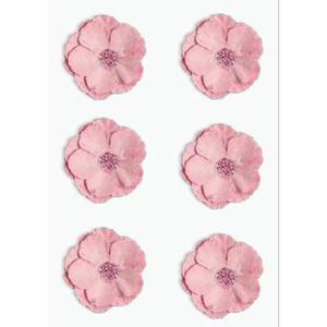 Kwiaty samoprzylepne papierowe Clematis różowe x6 - 2867148741