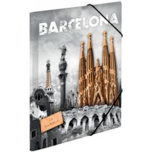 Teczka A3 z gumkami Herma - Barcelona x1 - 2860489731