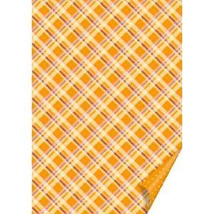 Karton B2 300g Heyda kratka/kropki - pomarańcz x1 - 2873178471