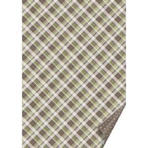 Karton B2 300g Heyda kratka/kropki - brązowy x1 - 2873178475