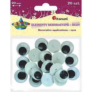 Oczka ruchome okrągłe do przyszywania 20mm x20 - 2873636603