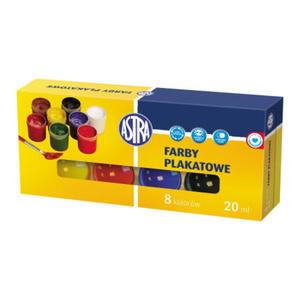 Farby plakatowe Astra 20ml - 8 kolorów x1