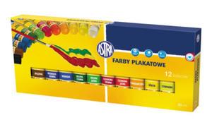 Farby plakatowe Astra - 12 kolorów w tubach x1