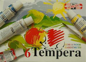 Farby tempery Koh-I-Noor - 6 kolorów x1
