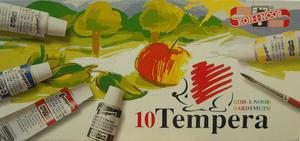 Farby tempery Koh-I-Noor - 10 kolorów x1