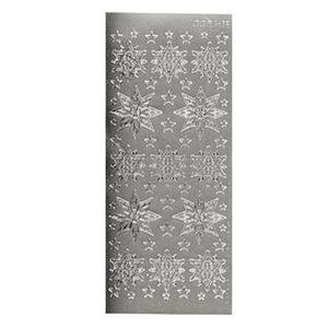 Sticker srebrny 02426 - śnieżynki x1 - 2879364581