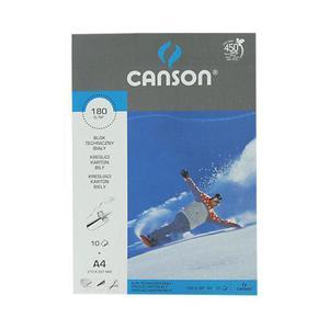 Blok techniczny A4 190g Canson biały 10k x20 - 2880148440