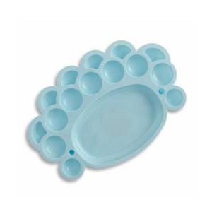 Paleta malarska plastikowa mini blue niebieska x1 - 2880577070