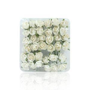 Róże papierowe 1cm kremowe x144 - 2880942316