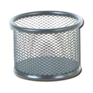 Przybornik biurowy metalowy 8202 srebrny x1 - 2880942337