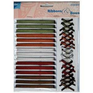 Zestaw wstążeczek i kokardek 03 mix kolorów x1 - 2881781327