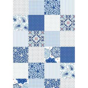 Karton B2 300g Heyda Patchwork niebieski x1 - 2860491700