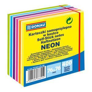Notes samoprzylepny Donau 76x76mm neon x1 - 2860491986