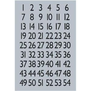 Naklejki HERMA Decor 4134 cyfry 1-100 x1 - 2860492080