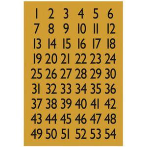 Naklejki HERMA Decor 4146 cyfry czarne x1 - 2860492083