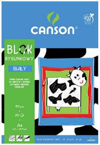 Blok rysunkowy A4 90g Canson biały 20k x1 - 2824958798