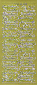 Sticker złoty 48455 - gratulacje x1 - 2824960372
