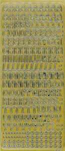 Sticker złoty 01322 - litery x1 - 2846498249