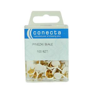 Pinezki Conecta białe x100