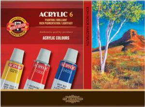 Farby akrylowe Koh-I-Noor 6 kol x1