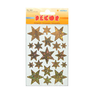 Naklejki HERMA Decor 3902 gwiazdy złote x1