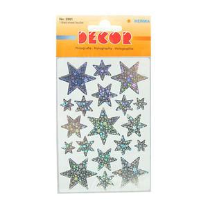 Naklejki HERMA Decor 3901 gwiazdy hologr sreb. x1 - 2846498252