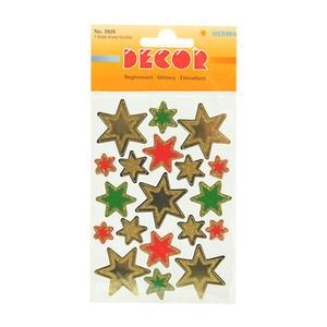 Naklejki HERMA Decor 3926 gwiazdy kol brokat x1 - 2846498254