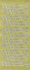Sticker złoty 90100 - z okazji jubileuszu x1