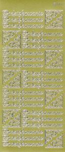 Sticker złoty 09030 - podziękownie x1