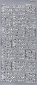 Sticker srebrny 09030 - podziękownie x1