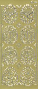 Sticker złoty 01832 - pisanki ażurowe x1