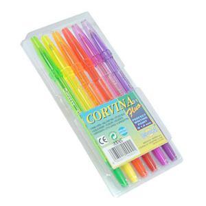 Długopis Corvina fluo 6kol x1
