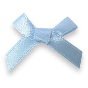Kokardki atłasowe mini błękitne x10