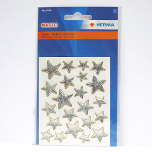 Naklejki HERMA Magic 3936 gwiazdki złote brokat