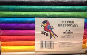 Krepa kolorowa 25cm mix Art-Pap x10 - 2824960841